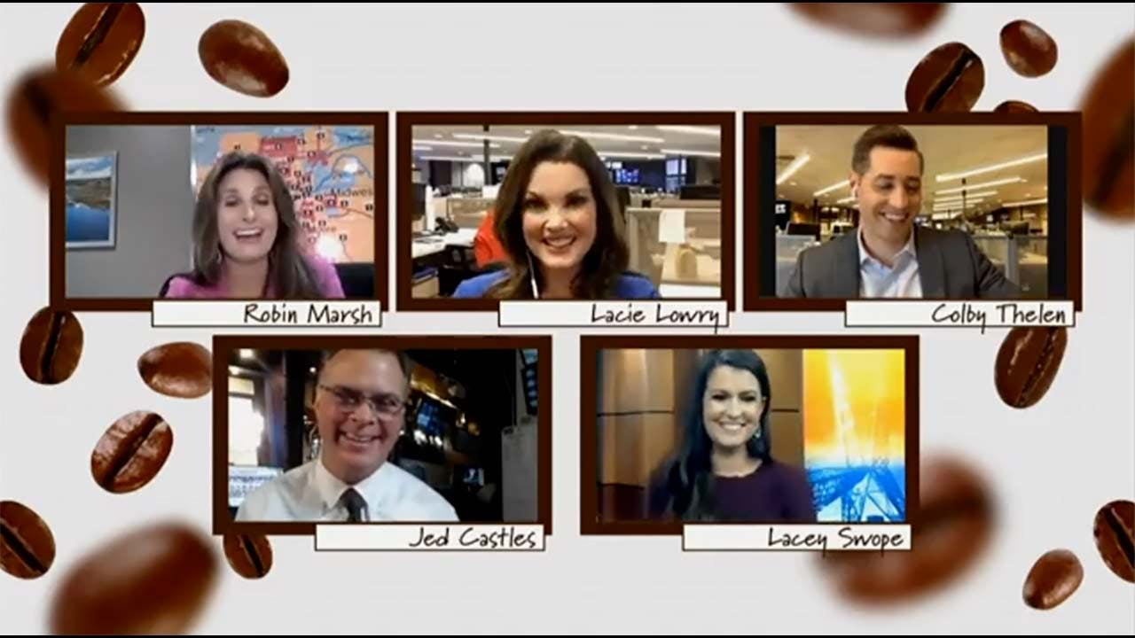 News 9 This Morning anchors and meteorologists hosted a virtual Coffee Talk where they answered viewer questions and swapped funny stories.