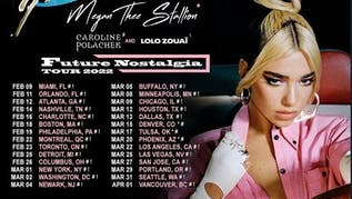 DUA LIPA is coming to the BOK March 2022!