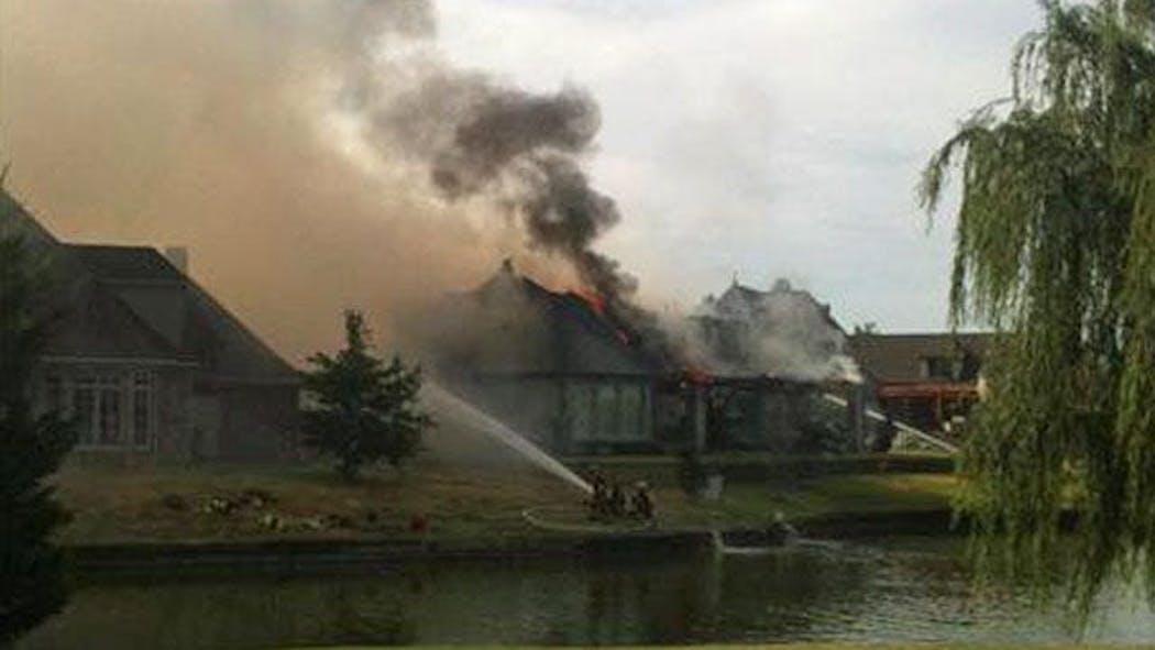 Broken Arrow Firefighter Injured In House Fire