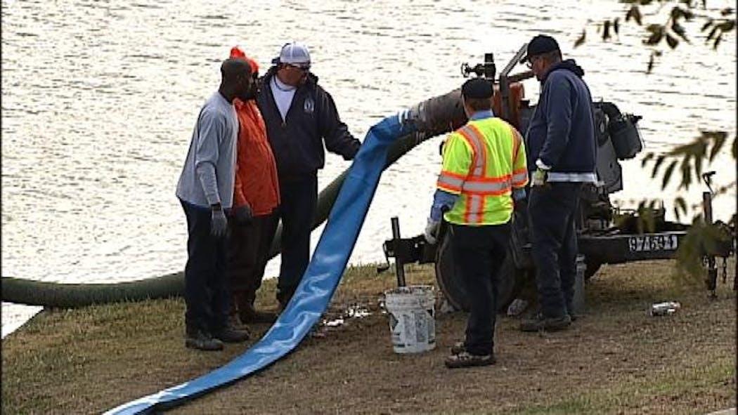 Tulsa Police Drain Retention Pond In Search For Body Parts