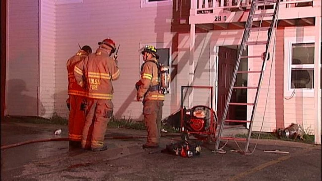 Tulsa Firefighters Rescue Woman From Apartment Fire