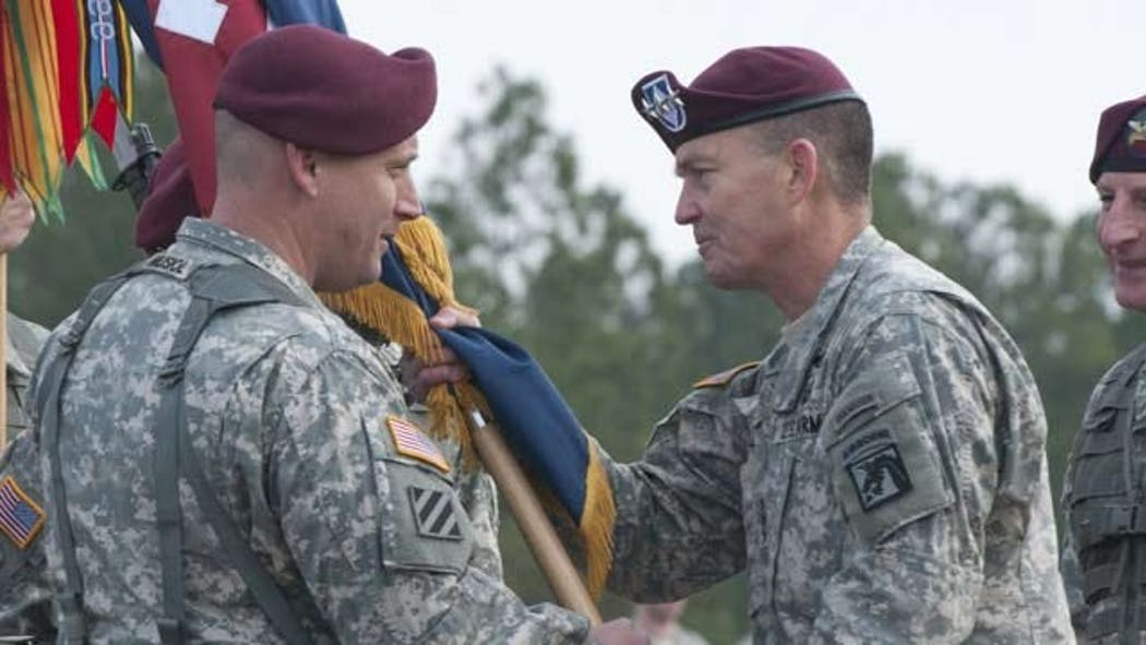 Broken Arrow Soldier Relinquishes Command During Ceremony At Fort Bragg