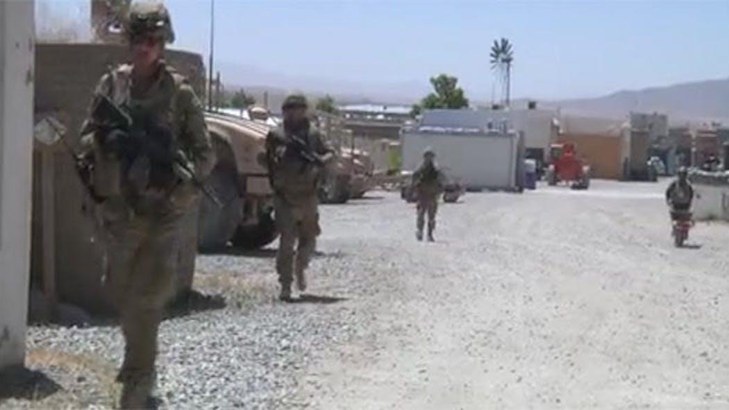 Broken Arrow Native Trains Afghan Uniformed Police