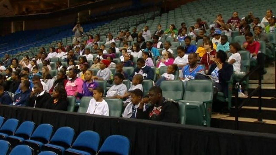 TPS Students Have Day Of Fun With OKC Thunder