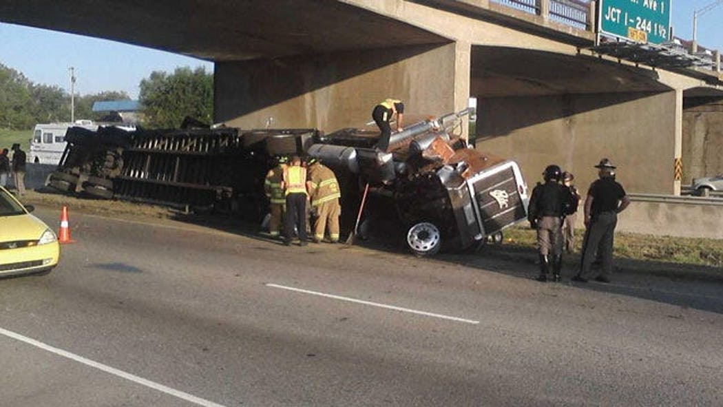 Semi Crash On I-44 In West Tulsa Slows Traffic