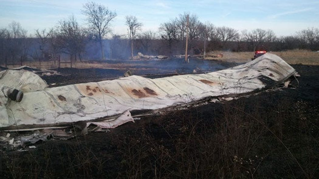 Fire Destroys Four Mobile Homes In Sapulpa