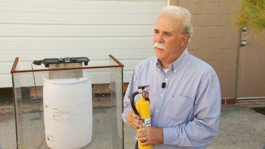 Tulsa Developer's Fire Extinguisher Made To Put Out Battery Fires