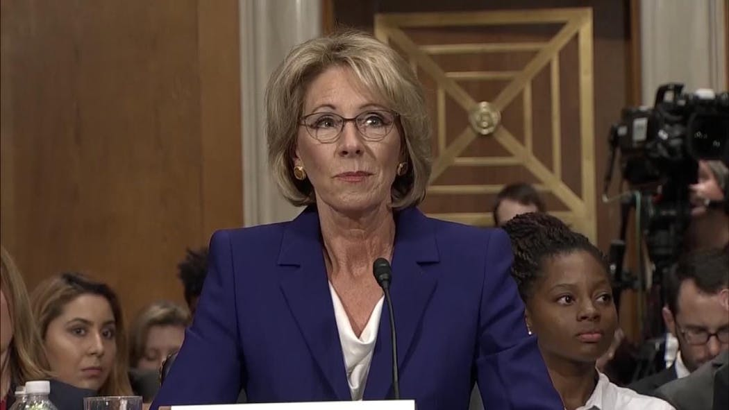 Senate Democrats Hold All-Nighter To Oppose Betsy DeVos