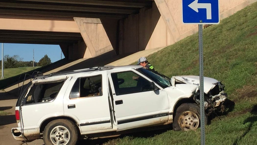 SUV Flips Off Tisdale Expressway After Driver Falls Asleep