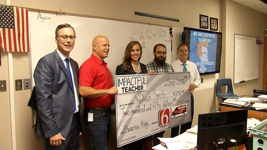 Owasso Math Teacher Selected As News On 6 'Impactful Teacher'