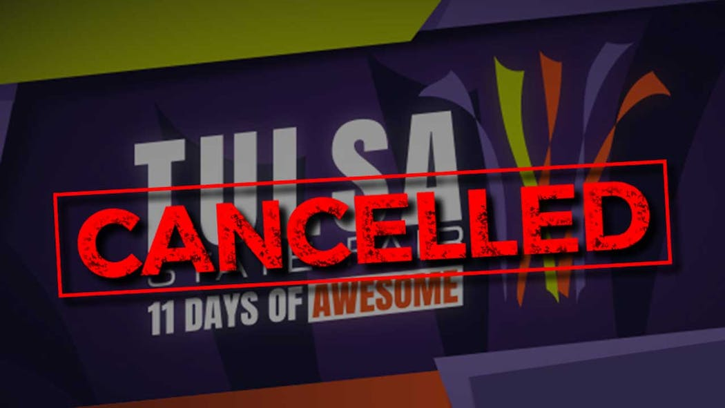 Tulsa State Fair Canceled.