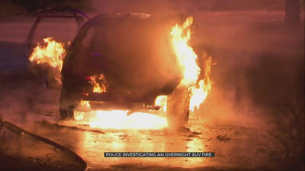 Tulsa SUV Fire