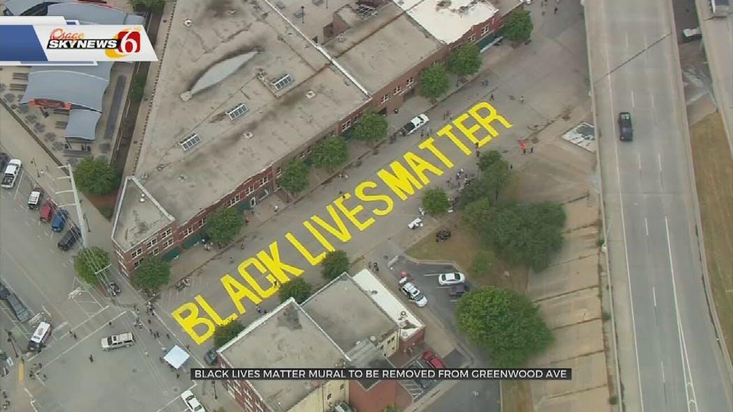 Black Lives Matter mural on Greenwood Ave.