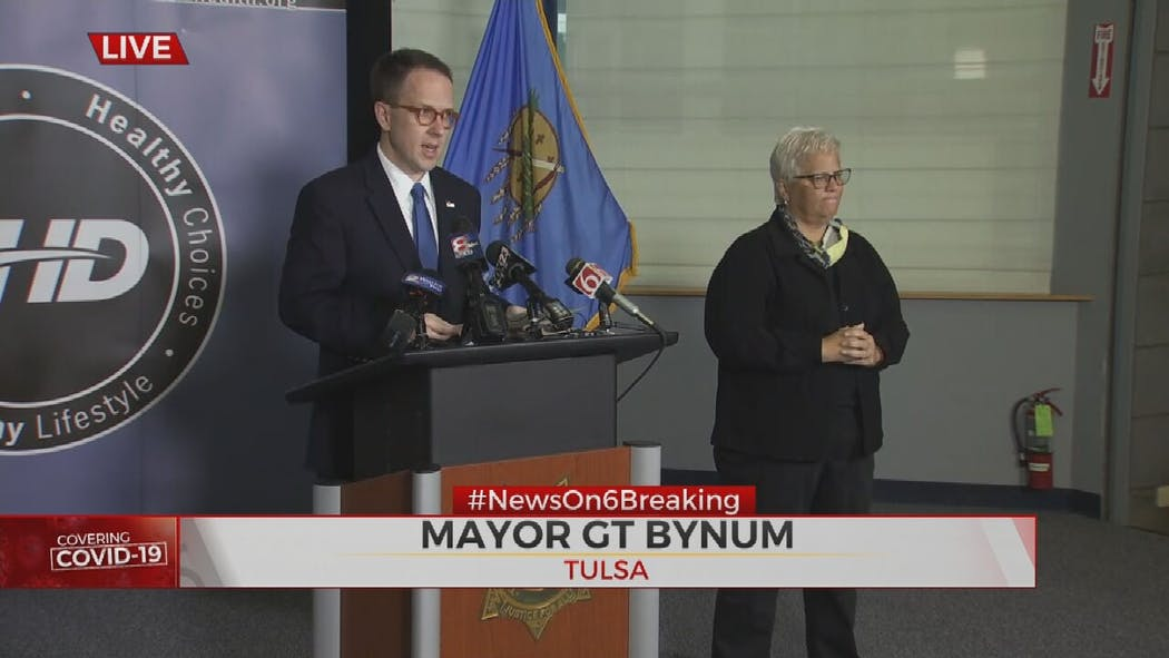 Photo of Tulsa's Mayor G.T. Bynum on July 2, 2020.