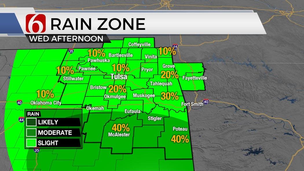 Rain Zone For Wednesday