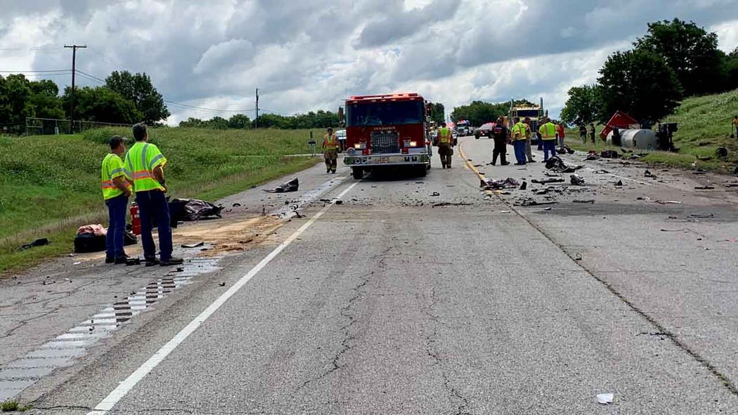 Deadly crash near the Port of Catoosa.