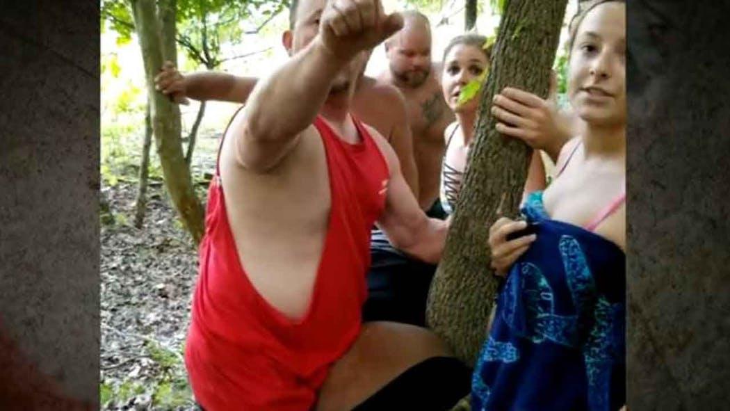 Black Man Pinned Against Tree Viral Video