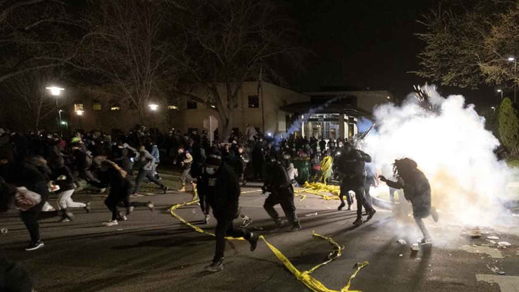 Protesters Clash With Police In Minneapolis Suburb After Deadl