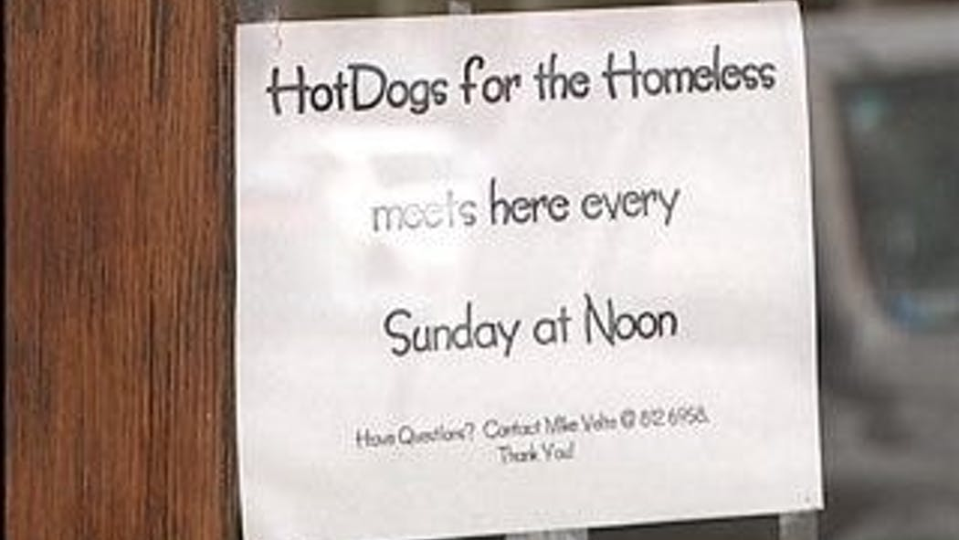 Hot dog man serves up blessings