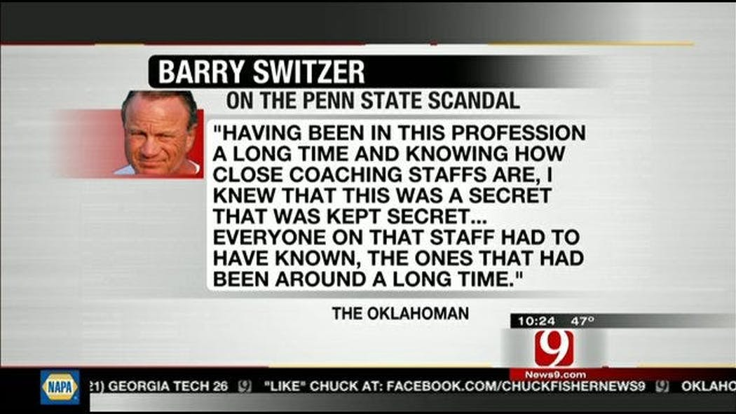 Barry Switzer Gives His Thoughts On Penn State Scandal