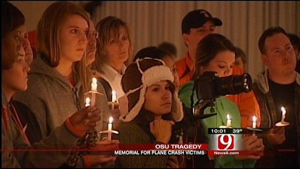 Candle Light Vigil Held For OSU Plane Crash Victims