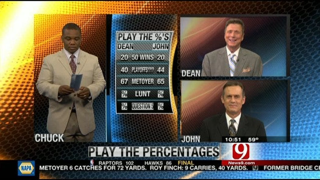 Play The Percentages: April 15, 2012