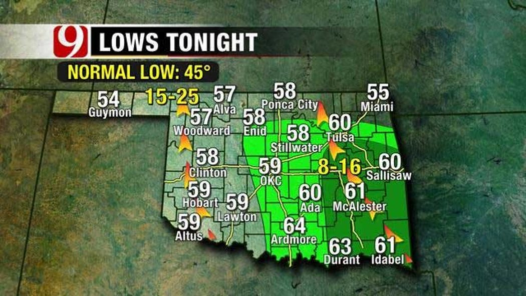 Severe Thunderstorms Possible In Oklahoma