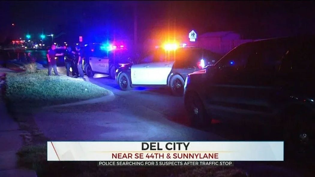 Del City Police Search For 3 Suspects After Traffic Stop