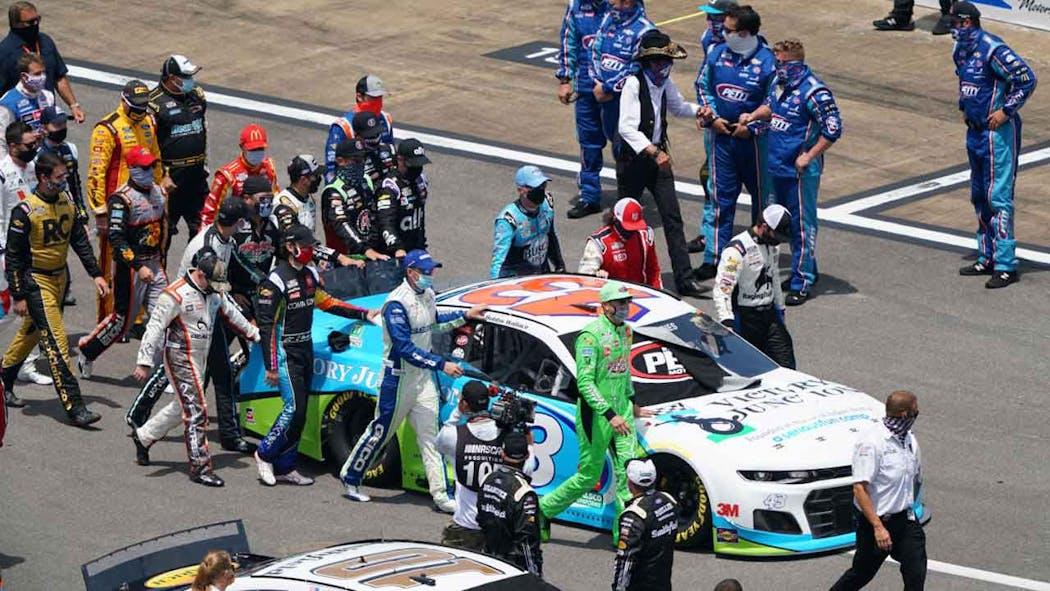 Bubba Wallace Car CBS Sports