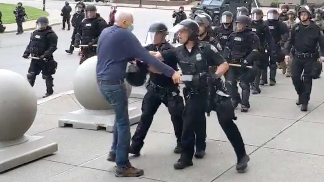 Buffalo police and man altercation