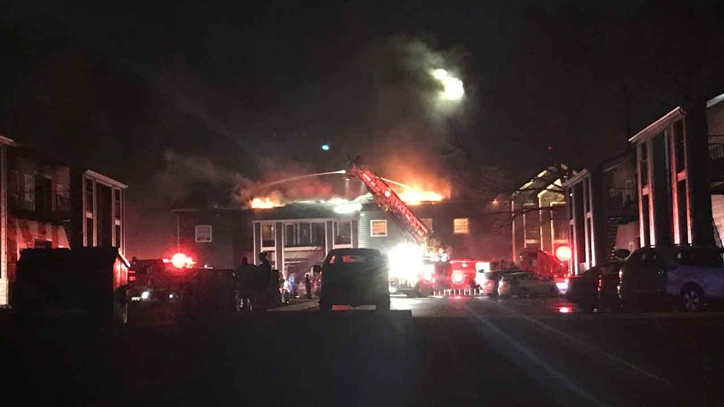 Crews Battle Large Apartment Fire In Norman