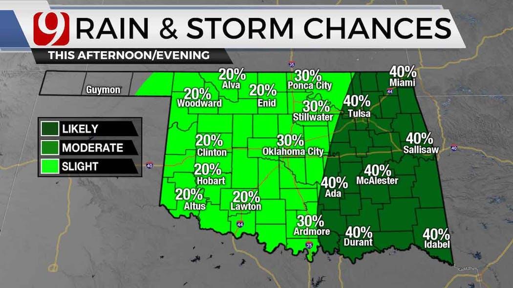 Rain, Storm Chances