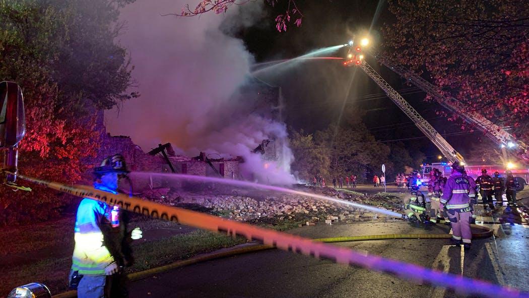 Abandoned Church Fire NE OKC Oct. 19, 2020