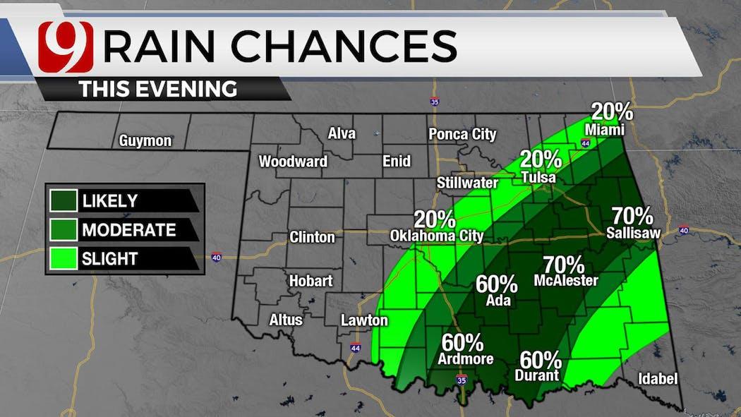Evening Rain Chances