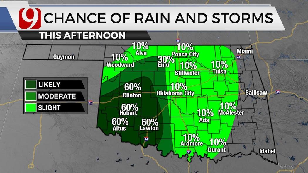 Wednesday Afternoon Rain