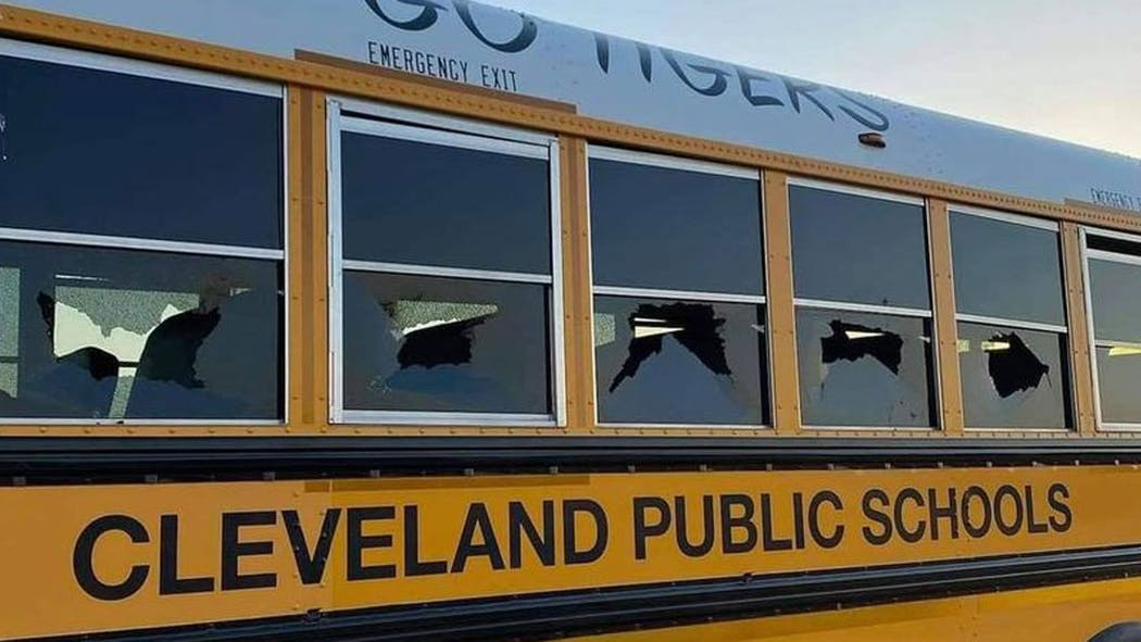 Cleveland School Bus Shot