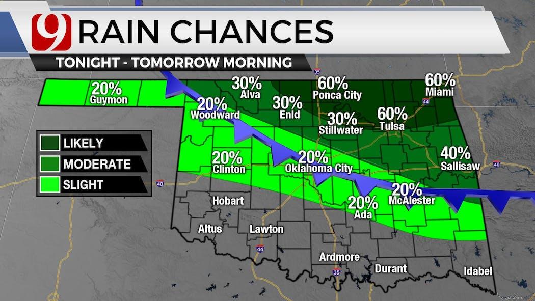 Rain Chances tonight