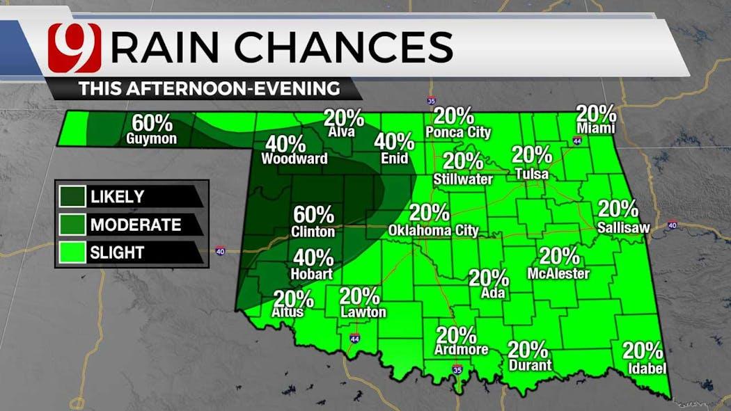 Rain chances for 8-16-21