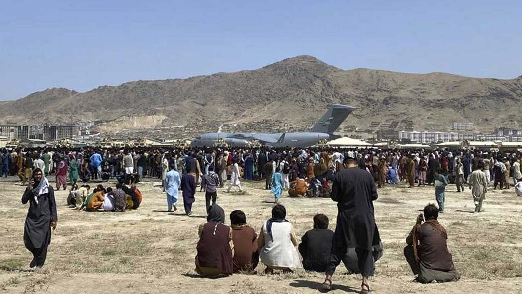Kabul airport on 8-16-21