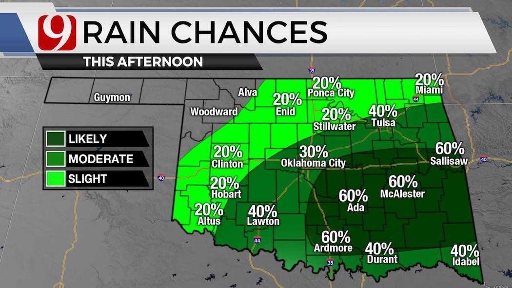 Rain chances for 8-17-21