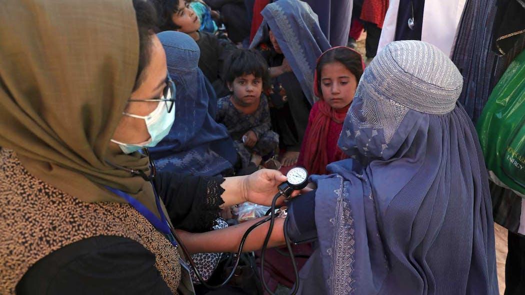 Afghanistan women on Aug. 10, 2021