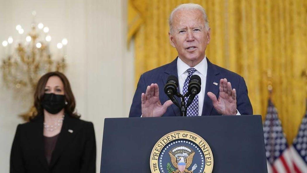 President Biden and VP Harris on evacuations in Afghanistan