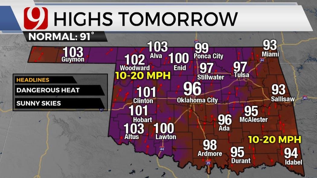 highs tomorrow