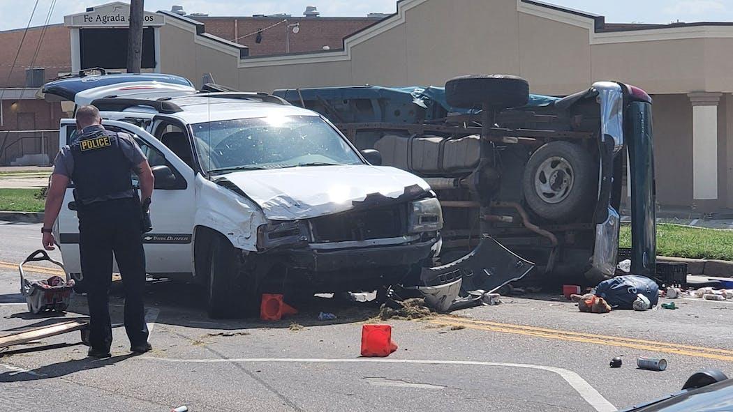 SW OKC Rollover Accident Aug. 26, 2021