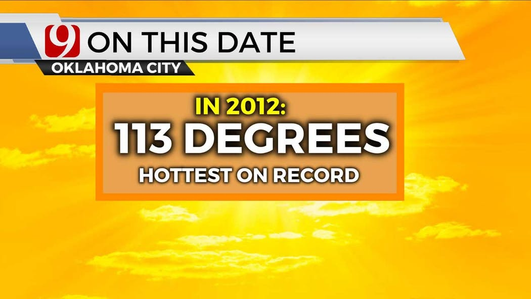 hottest day in OKC on 8-3-21