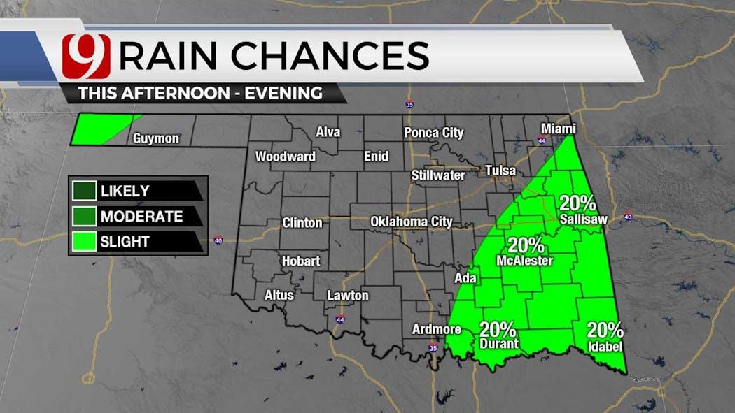 rain chances on 8-3-21