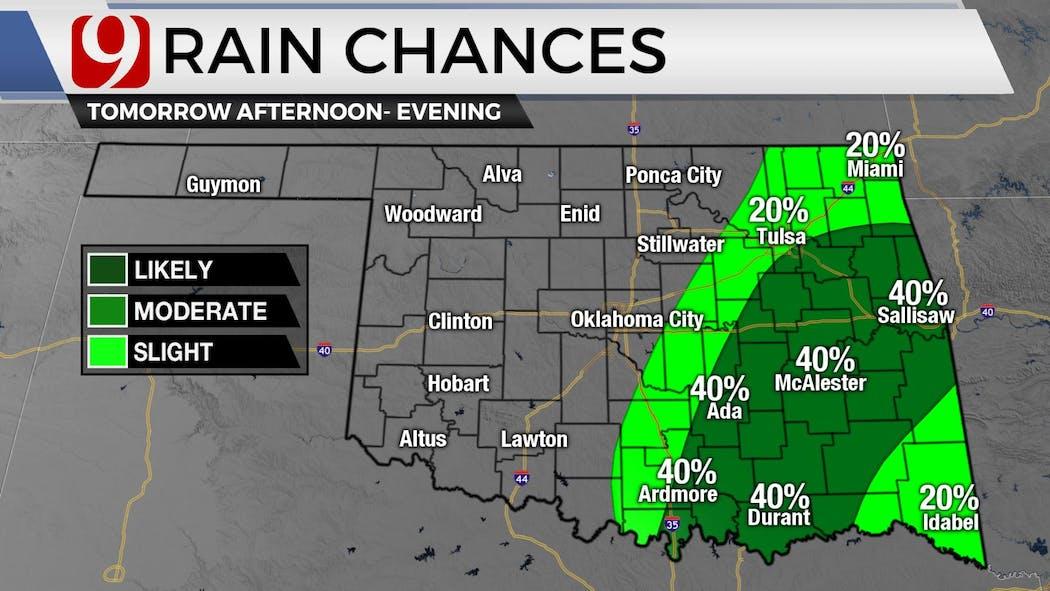 Thursday Afternoon Rain Chances