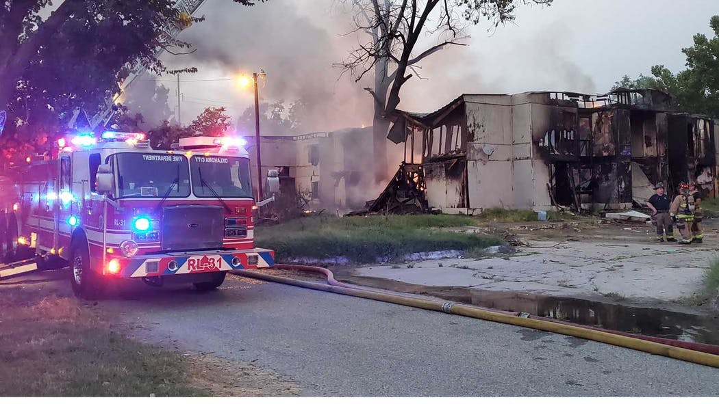 Abandoned Apartment Fire 8-6