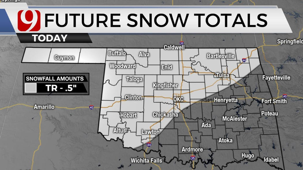 Friday Snow Totals