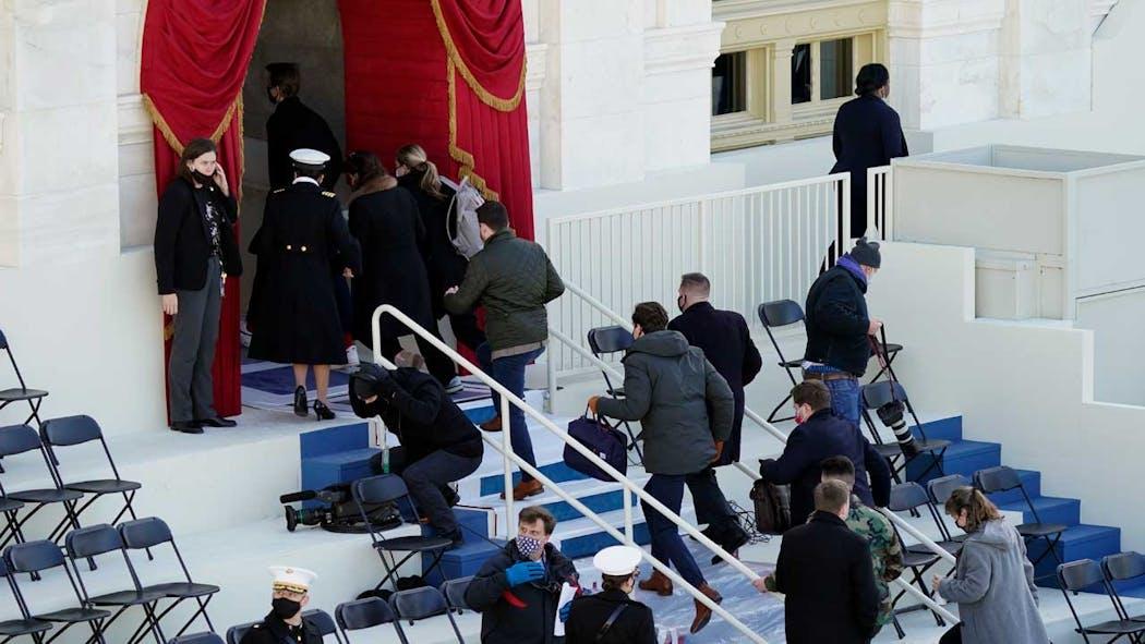 Biden Inauguration Rehearsal Evacuation